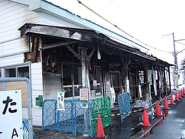 広田駅ホーム側(南方向から)